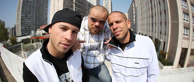 """L'équipe de Kaira Shopping. De gauche à droite : Franck Gastambide alias Moustène, Jean-Baptiste Pocthier dit """"Momo"""", et Medi Sadoun alias """"Abdel Krim"""". ©John Waxx"""