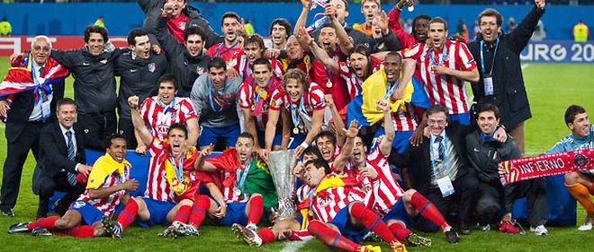 L'Atletico Madrid a remporté la première édition de l'Europa League, en venant à bout des Anglais de Fulham, mercredi, à Hambourg © IPS PHOTO AGENCY / MAXPPP