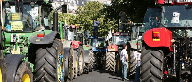 Les agriculteurs ont récemment défilé à Paris pour dénoncer la chute de leur revenu © AFP
