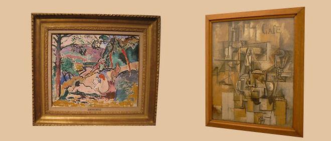 """""""La Pastorale"""" d'Henri Matisse et """"Le Pigeon aux petits pois"""" de Pablo Picasso © Montage lepoint.fr"""