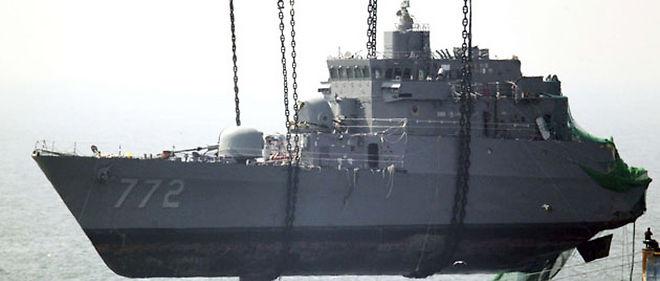 La corvette sud-coréenne Cheonan avait coulé fin mars au large de la péninsule coréenne © Choi Jae-ku/AP/SIPA