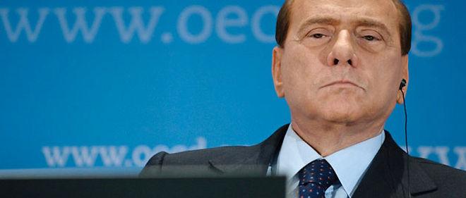 Silvio Berlusconi a surpris son auditoire, jeudi à Paris, en citant un extrait des journaux de Benito Mussolini © ©NICOLAS DATICHE/WOSTOK PRESS / MAXPPP