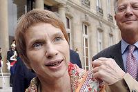 Laurence Parisot et Denis Gautier-Sauvagnac © ERIC FEFERBERG / AFP