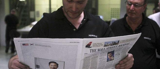 Avec le Financial Times, le Wall Street Journal fait partie des journaux les plus lus par les acteurs des marchés anglo-saxons © SIPA