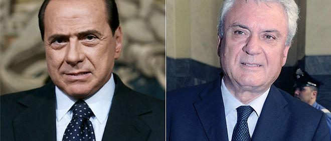 Silvio Berlusconi et son ancien ministre Aldo Brancher, responsable du fédéralisme au gouvernement © Montage Le Point.fr