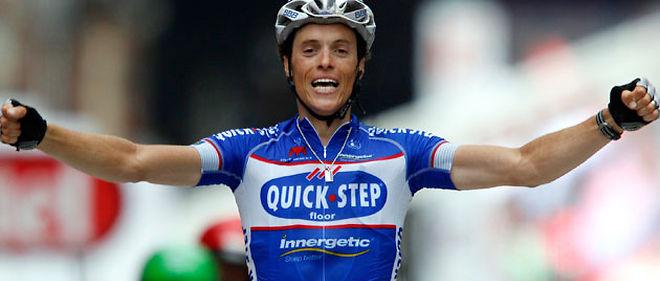 Le Français Sylvain Chavanel s'est emparé lundi du maillot jaune du Tour de France avec sa victoire dans la deuxième étape entre Bruxelles et Spa © Reuters