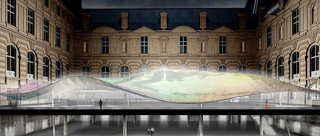 Illustration du futur espace dédié au département des Arts de l'islam, au musée du Louvre ©Mario Bellini/Rudy Ricciotti.
