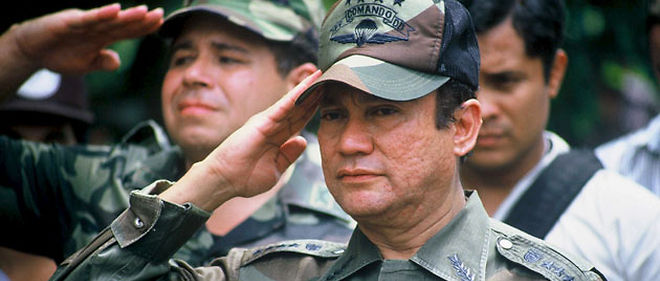 Manuel Noriega en 1988, un an avant son arrestation © SIPA