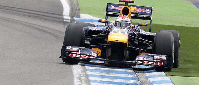 L'Allemand Sebastian Vettel (Red Bull) partira dimanche en pole position du Grand Prix d'Allemagne de Formule 1 © Epa