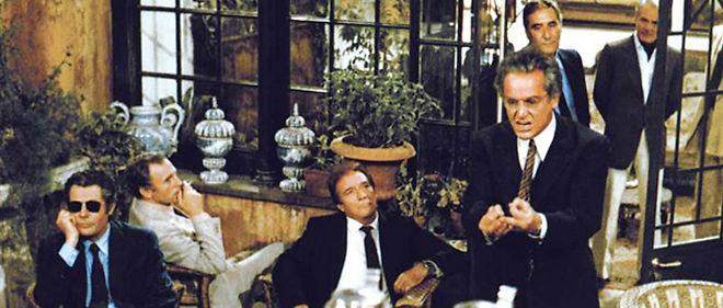 """La bande d'acteurs de """"La Terrasse"""" de Ettore Scola. © DR"""