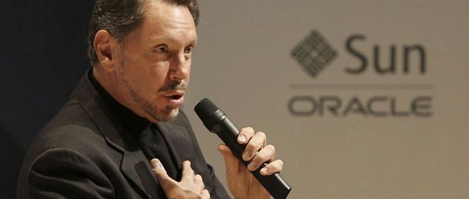 Larry Ellison a recu au total 1,84 milliard de dollars de remuneration (C) Jeff Chiu/AP/SIPA