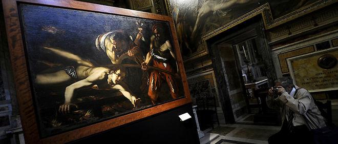 """Le tableau """"Le Martyre de saint Laurent"""" (photo) n'aurait pas été réalisé des mains de Caravage © AFP"""