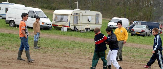 """Nicolas Sarkozy veut notamment """"décider les expulsions de tous les campements en situation irrégulière"""" lors de la réunion qu'il présidera mercredi sur les gens du voyage © SIPA"""