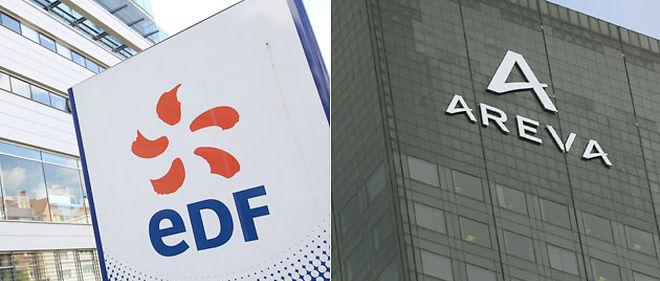 EDF et Areva devront conclure un accord de partenariat stratégique couvrant l'ensemble de leurs domaines d'activité d'intérêt commun dans le nucléaire © Montage Le Point.fr