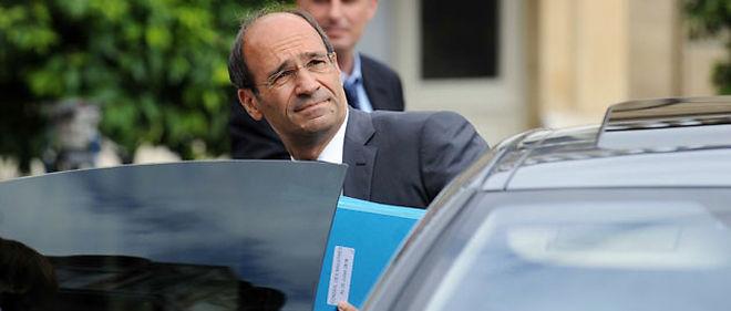 Le ministre du Budget Éric Woerth a été entendu, jeudi ,dans le cadre de l'affaire Bettencourt, à son ministère, rue de Grenelle à Paris © SIPA