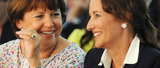 Martine Aubry et Ségolène Royal à La Rochelle, le 27 août 2010 © XAVIER LEOTY / AFP