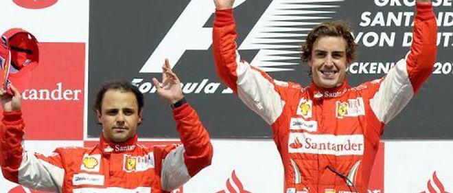 Il est reproché à l'écurie Ferrari d'avoir demandé à Felipe Massa de laisser la place à Fernando Alonso lors du Grand Prix d'Allemagne de Formule 1 le 25 juillet dernier © AFP