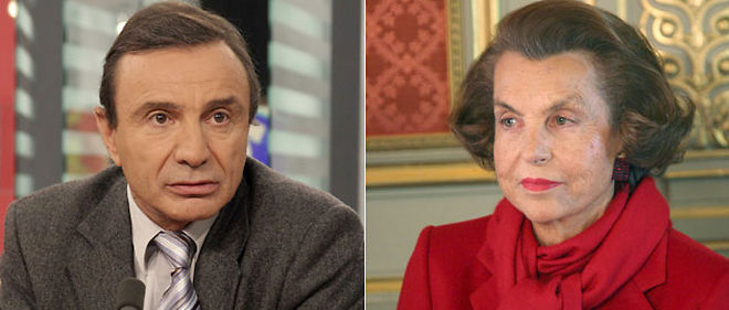 Le professeur Gilles Brücker et Liliane Bettencourt © Montage Le Point.fr