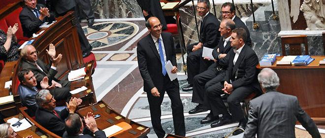 Le texte est défendu dans l'hémicycle par le ministre du Travail Éric Woerth, très affaibli par l'affaire Bettencourt © Christophe Petit Tesson / MAXPPP