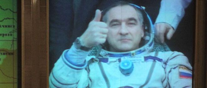 Le commandant Alexandre Skvortsov, après l'atterrissage de l'ISS © RIA Novosti