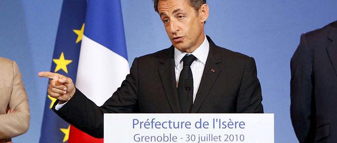 """Nicolas Sarkozy a proposé d'étendre les possibilités de déchéance de la nationalité lors de son """"discours de Grenoble"""" au mois d'août 2010 © Sipa"""