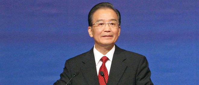 Wen Jiabao, le Premier ministre Chinois (C) Sipa