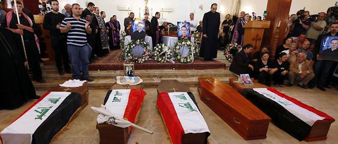 L'attaque menée dimanche par un commando d'Al-Qaeda contre la cathédrale syriaque catholique de la capitale irakienne a fait 53 morts © Hadi Mizban/AP/Sipa