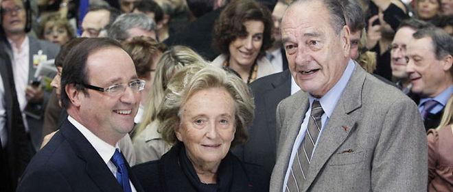François Hollande, Bernadette et Jacques Chirac partagent la passion de la Corrèze © Sipa