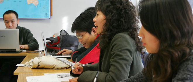 Les étudiants chinois sont la deuxième population d'étudiants étrangers dans les universités et établissements publics du supérieur © Maxppp