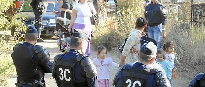Les forces de l'ordre ont procédé cet été à l'évacuation de camps illégaux de Roms, comme ici à Montpellier © Photopqr/Midi Libre