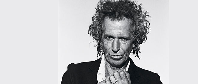 À 67 ans, Keith Richards, le pilier des Stones sort un livre de souvenirs, avant de repartir en tournée en 2011. ©Peter Lindbergh