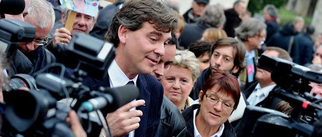 """Arnaud Montebourg a annoncé samedi aux militants sa candidature aux primaires socialistes © Gilles Dufour/Photopqr Le Journal """"Saône-et-Loire"""""""