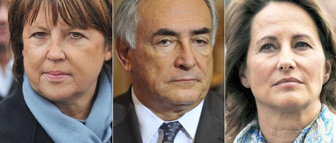 Martine Aubry, Dominique Strauss-Kahn et Ségolène Royal font front commun pour les primaires socialistes. © Mousse, Abaca / Bisson / Sipa (Montage Le Point.fr)
