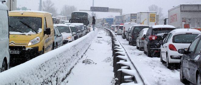 La neige avait paralysé de nombreux axes d'Île-de-France, le 8 décembre dernier
