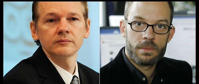 Julian Assange et son ex-collègue Daniel Domscheit-Berg (à droite) au coeur d'une tentative de déstabilisation de WikiLeaks