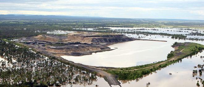 Les inondations ont sérieusement affecté l'industrie minière, secteur-clé de l'économie australienne