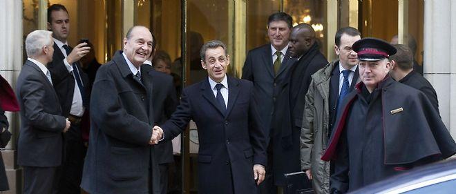 Jacques Chirac et Nicolas Sarkozy ont déjeuné ensemble vendredi dans un hôtel parisien