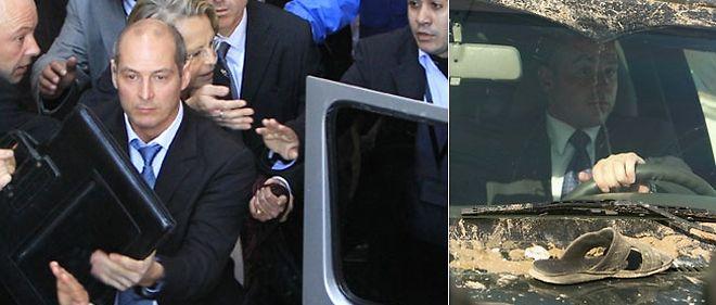 La visite de Michèle Alliot-Marie à Gaza vendredi a été perturbée par des manifestants qui s'en sont pris à la voiture dans laquelle elle se trouvait © Ashraf Amra / Apaimages Maxppp