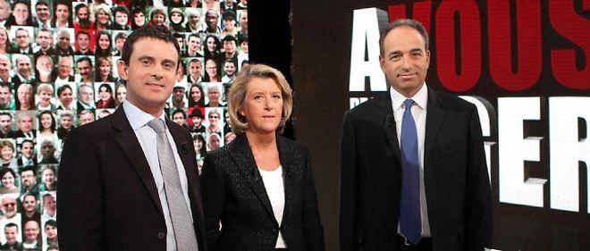 """Manuel Valls et Jean-François Copé n'ont guère attiré les spectateurs lors de leur passage dans """"À vous de juger"""" sur France 2"""