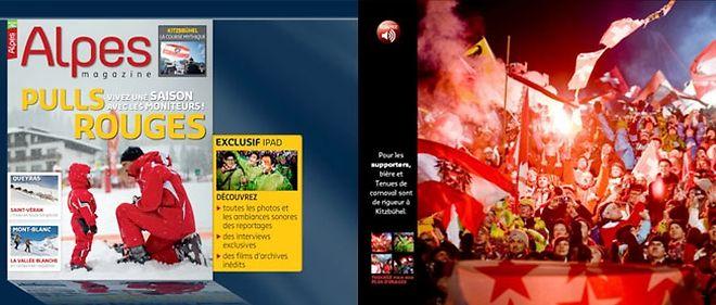 """Capture d'écran de l'application iPad """"Alpes Magazine"""""""