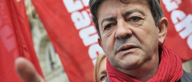 Le président du Parti de gauche, Jean-Luc Mélenchon, candidat à la présidentielle 2012.