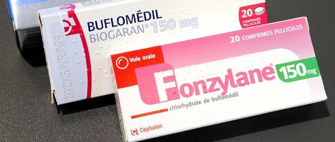 Le Buflomédil est un vasodilatateur commercialisé sous le nom de Fonzylane par la firme américaine Cephalon et comme génériques par une quinzaine de firmes dont Merck, Mylan et Biogaran, la filiale de Servier