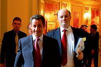 Nicolas Sarkozy et Alain Bauer, en 2006 ©Élodie Grégoire