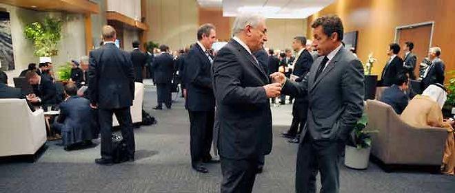 DSK avec Nicolas Sarkozy au sommet du G20 de Toronto en 2010