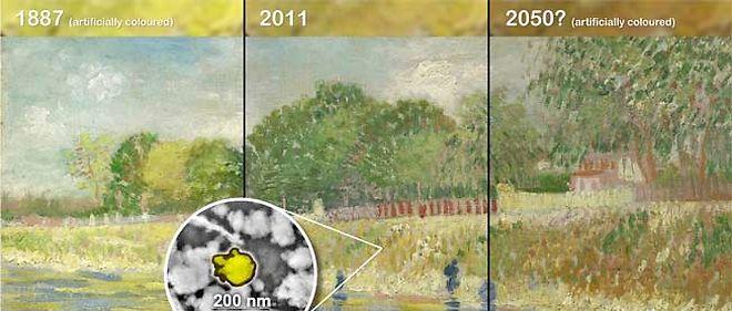 L'évolution du pigment jaune dans une toile de Van Gogh.