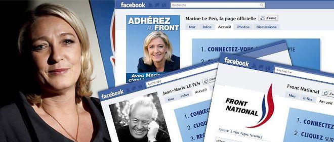 """Le Front national compte plus de 30 000 """"fans"""" sur Facebook."""
