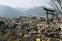 Certaines localités comme Miyagi ont été rayées de la carte. ©©AP/SIPA