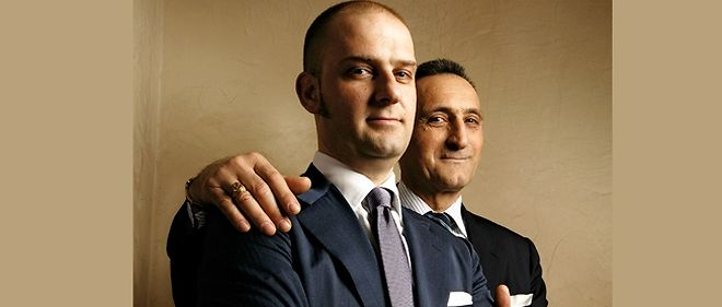 1eef832e6d24c Le fondateur Andrea Santoni (a dr.) et son fils Giuseppe.