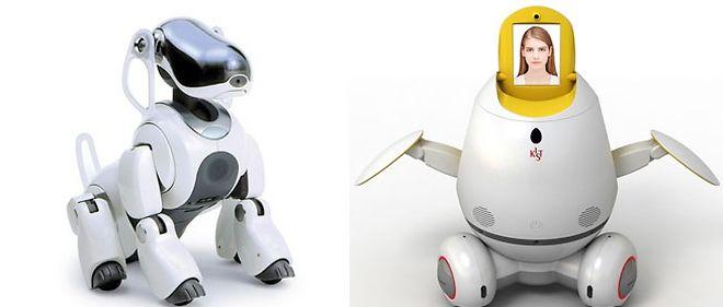 Les robots Aibo et Engkey