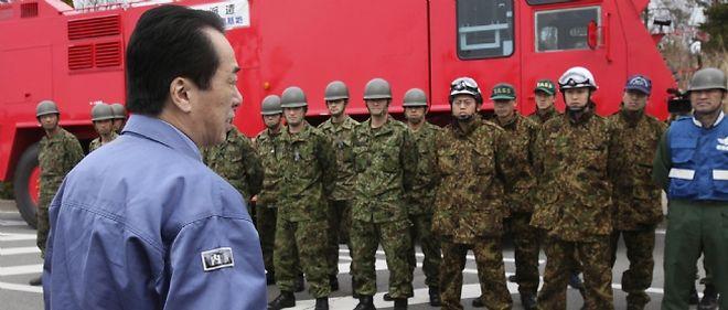 Le Premier ministre japonais Naoto Kan s'est rendu à Fukushima pour la première fois depuis le drame.